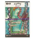 Ranger Dyan Reaveley\u0027s Dylusions Dyalog Printed Canvas Cover-Frame