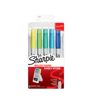 Sharpie Ultra-Fine Markers with Case 5pk-Cool Hero