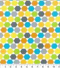 Nursery Cotton Fabric-Zoo Midtone Hexagon