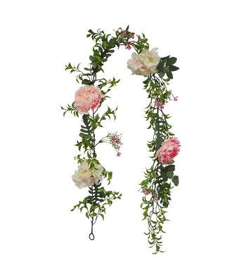 Fresh Picked Spring 66'' Light Pink Peony & Hydrangea Garland