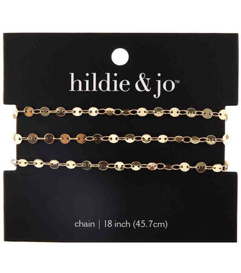"hildie & jo 18"" Copper & Iron Small Circles Chain-Gold"