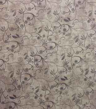 Keepsake Calico Cotton Fabric -Flourish on Brown Blender
