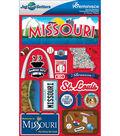 Jet Setters Dimensional Stickers-Missouri