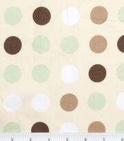 "Nursery Cotton Fabric 43""-Monkey Dot, , hi-res"