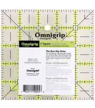 Omnigrip by Omnigrid Non-Slip Quilter's Ruler For Cutting & Squaring