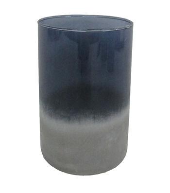 Blooming Autumn Medium Glass Vase-Tonal Indigo