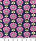 Snuggle Flannel Fabric -Crocus Floral Inline