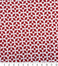 Knit Prints Pima Cotton-Red White Dots & Diamonds