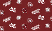 Mississippi State University Bulldogs Fleece Fabric -All Over, , hi-res