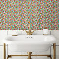 York Wallcoverings Wallpaper-Red Ditzy Floral Vine