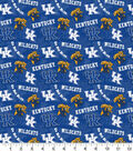 University of Kentucky Wildcats Cotton Fabric-Tone on Tone