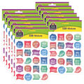 Teacher Created Resources Watercolor Stickers 12 Packs
