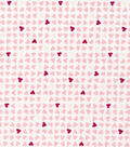 Cloud 9 Organic Cotton Flannel Fabric -Hearts Pink