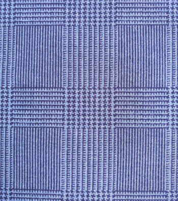 Refined Ponte Knit Fabric-Navy Glen Plaid