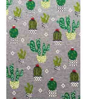 Doodles Juvenile Apparel Fabric 57''-Crazy Cactus