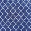 Anti-Pill Plush Fleece Fabric-Denim Quatrafoil