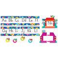 Owl-Stars! Alphabet Line Standard Manuscript Bulletin Board Set, 2 Sets