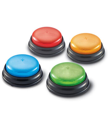Lights and Sounds Answer Buzzers, Set of 4