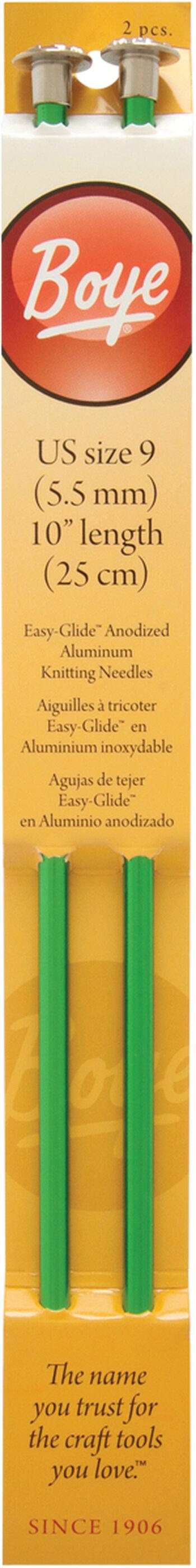 "Single Point Aluminum Knitting Needles 10""-Size 9/5.5mm"