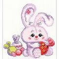RIOLIS Happy Bee 5\u0027\u0027x6.25\u0027\u0027 Counted Cross Stitch Kit-Bunny with a Candy