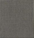Homespun Cotton Fabric 44\u0022-Mini Black & Cream Check