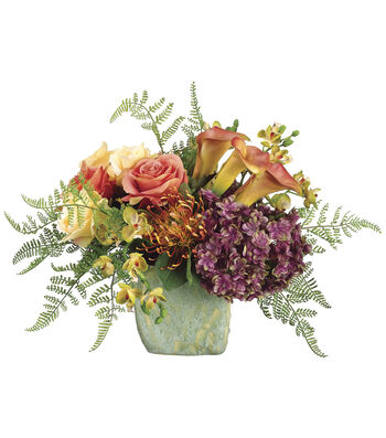 Bloom Room Luxe 13'' Rose, Calla, Lily & Orchid In Pot