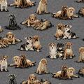 Super Snuggle Flannel Fabric-Photo Real Pups