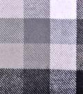 Cotton Shirting Fabric 42\u0027\u0027-Black & White Checked