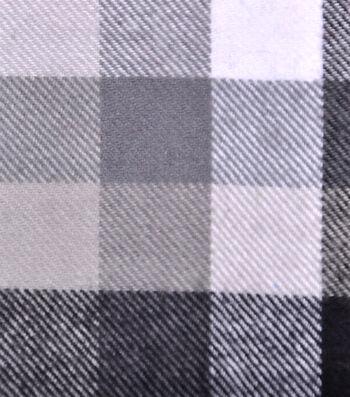 Cotton Shirting Fabric 42''-Black & White Checked