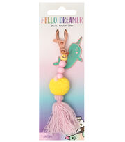American Crafts Hello Dreamer Narwhal Charm, , hi-res