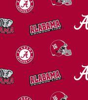 "University of Alabama Crimson Tide Fleece Fabric 58""-All Over, , hi-res"
