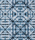 Keepsake Calico Cotton Fabric 43\u0027\u0027-Blue Tonal Geometric Diamond