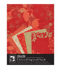 Black Ink Chinaberry Red Deco Paper Pack