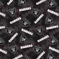 Oakland Raiders Flannel Fabric 42\u0022-Tie Dye