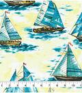 Novelty Cotton Fabric -Sailboats