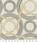 Waverly Sun N Shade Fabric 9\u0022x9\u0022 Swatch-Radiant Rings Onyx
