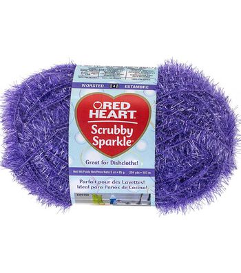Red Heart Scrubby Sparkle Yarn