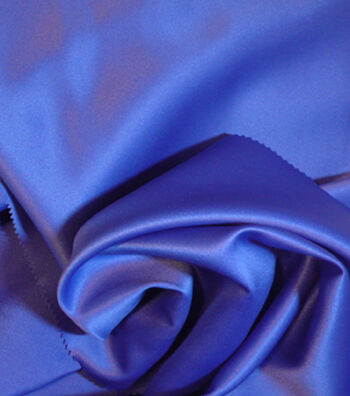 Casa Collection Matte Satin Satin Fabric -Dazzling Blue