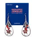 hildie & jo Patriotic Jewelry Hoop Dangle Earrings with Tassel Charms