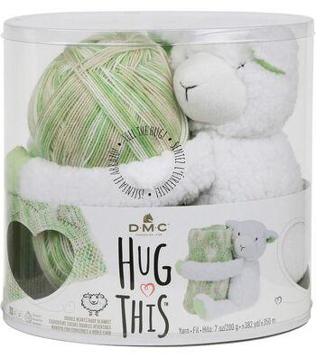 DMC Hug This! Lamb Double Hearts Baby Blanket Yarn Kit
