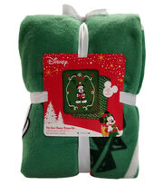 "Disney No Sew Fleece Throw 72""-Mickey Mouse Santa, , hi-res"
