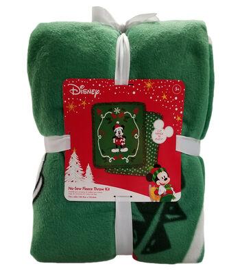 "Disney No Sew Fleece Throw 72""-Mickey Mouse Santa"
