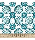 Snuggle Flannel Fabric 42\u0022-Floral Swirl Dark Teal