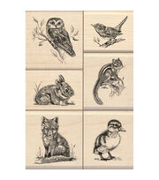 Inkadinkado Wildlife Friends Mounted Stamp Set, , hi-res