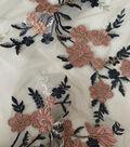 Casa Embellish Dahlia Mesh Fabric-Embellished Shimmer Floral