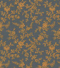 Quilter\u0027s Showcase Cotton Fabric 44\u0022-Yellow Gray Floral Vines
