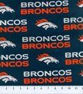 Denver Broncos Cotton Fabric -Mascot Logo