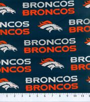 Denver Broncos Cotton Fabric -Mascot Logo, , hi-res