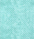 Quilter\u0027s Flannel Fabric-Dots White On Aqua