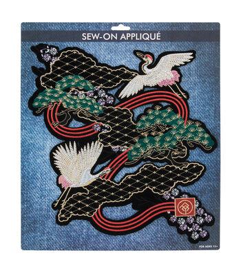 Sew-on Applique-Flying Cranes